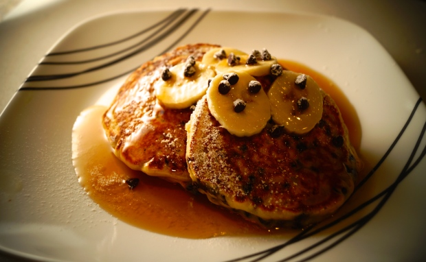 Chocolate Chip and Banana Pancakes